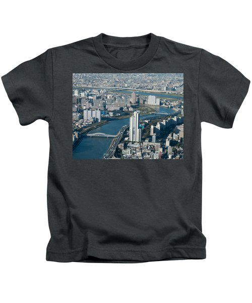 Panorama Of Tokyo Kids T-Shirt