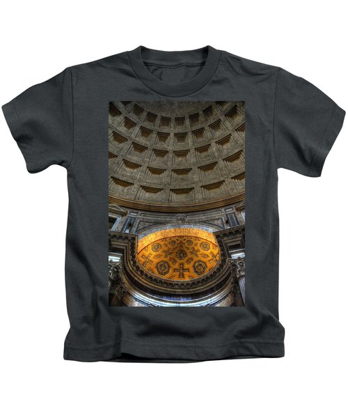 Pantheon Ceiling Detail Kids T-Shirt