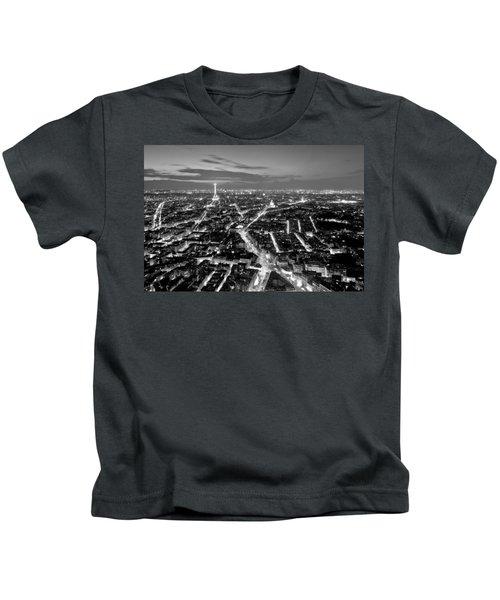 Paris Cityscape At Night / Paris Kids T-Shirt
