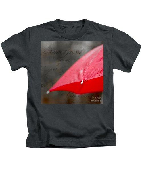 Paris Spring Rains Kids T-Shirt