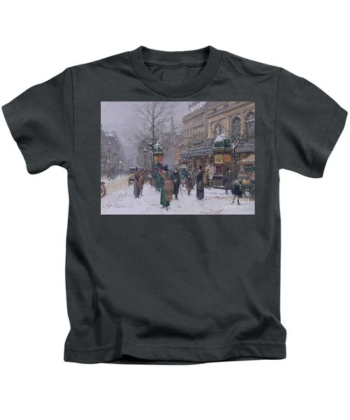 Parisian Street Scene Kids T-Shirt