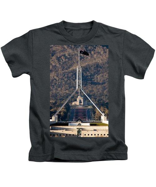 Parliament And War Memorial Australia Kids T-Shirt