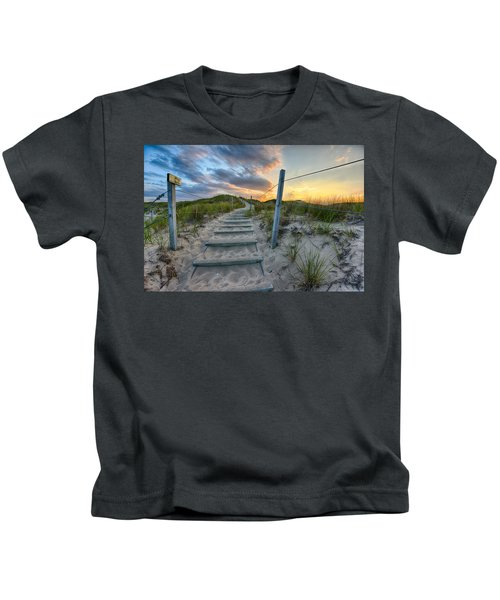 Path Over The Dunes Kids T-Shirt