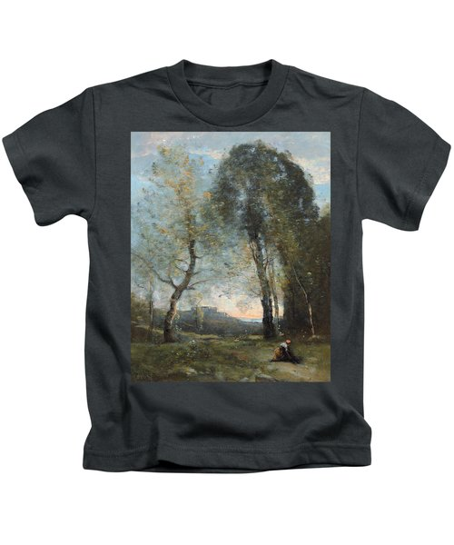 Peasant Woman Collecting Wood Kids T-Shirt
