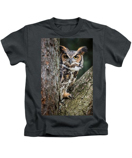 Peering Out Kids T-Shirt