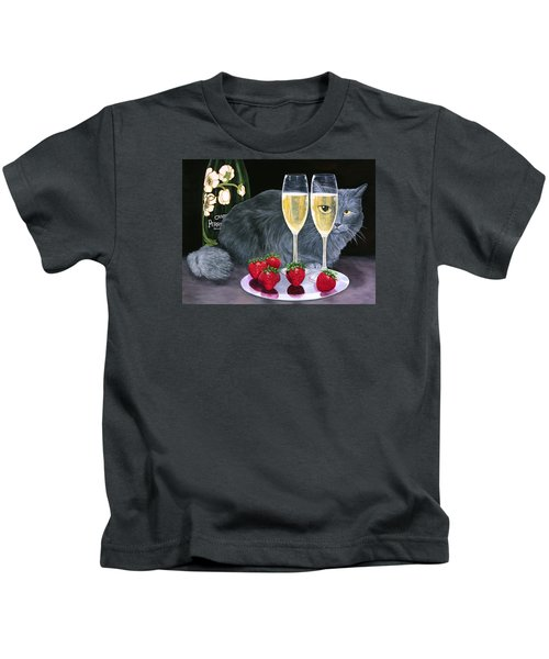 Perrier Jouet Et Le Chat Kids T-Shirt