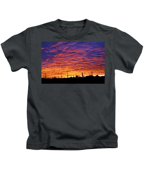 Kids T-Shirt featuring the photograph Phoenix Sunrise by Jill Reger