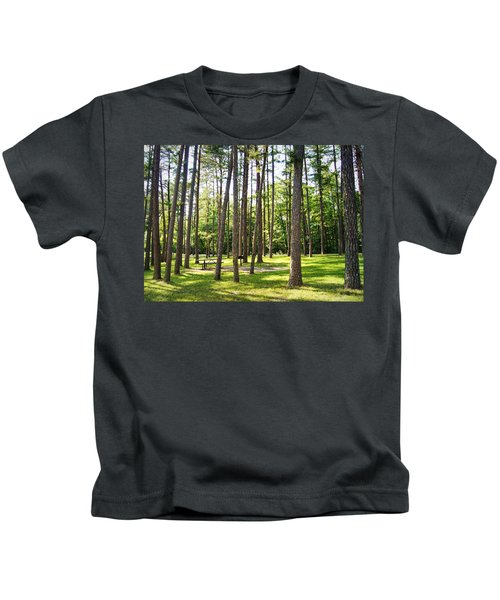 Picnic In The Pines Kids T-Shirt