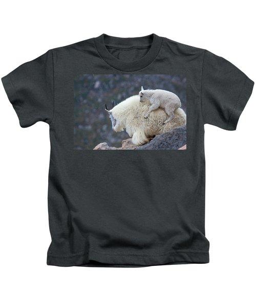 Piggyback Ride Kids T-Shirt