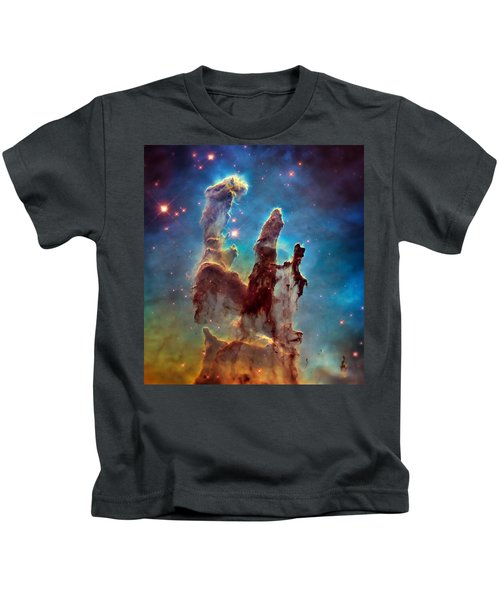 Pillars Of Creation In High Definition - Eagle Nebula Kids T-Shirt