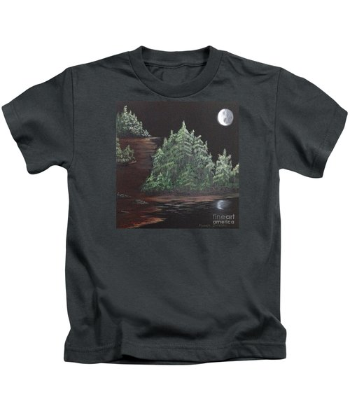 Pines With Moon Kids T-Shirt