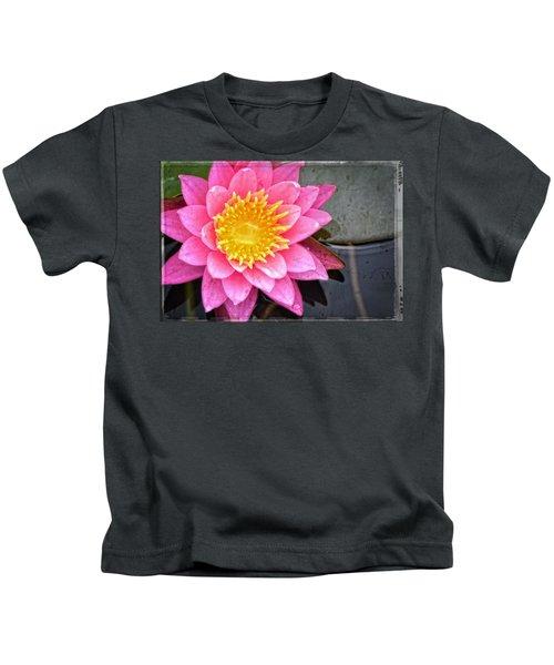Pink Lotus Flower - Zen Art By Sharon Cummings Kids T-Shirt