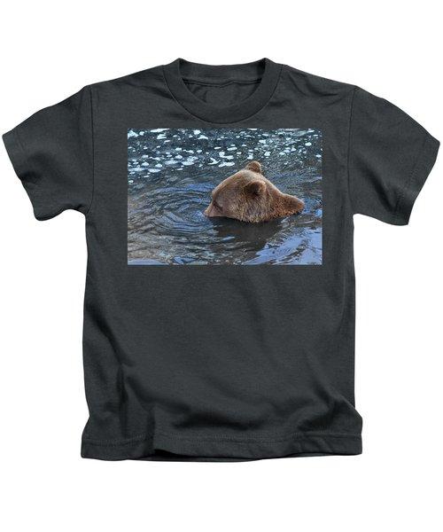 Playful Submerged Bear Kids T-Shirt