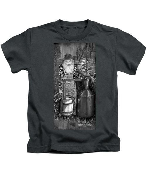 Popcorn Sutton - Black And White - Legendary Kids T-Shirt
