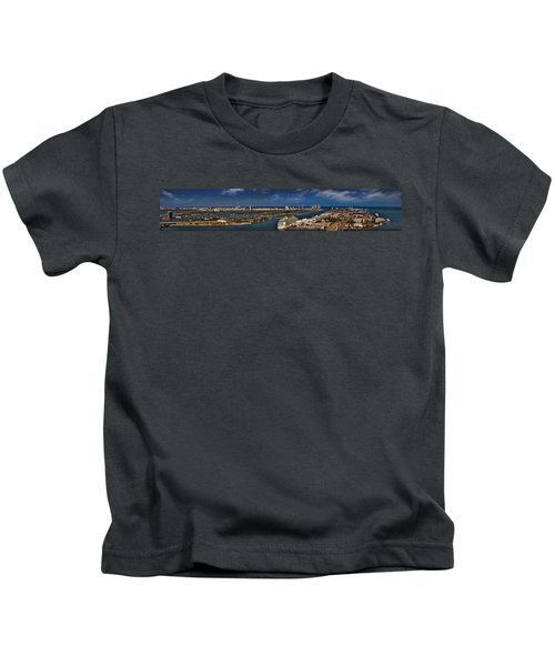 Port Of Miami Panoramic Kids T-Shirt