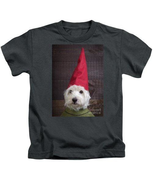 Portrait Of A Garden Gnome Kids T-Shirt