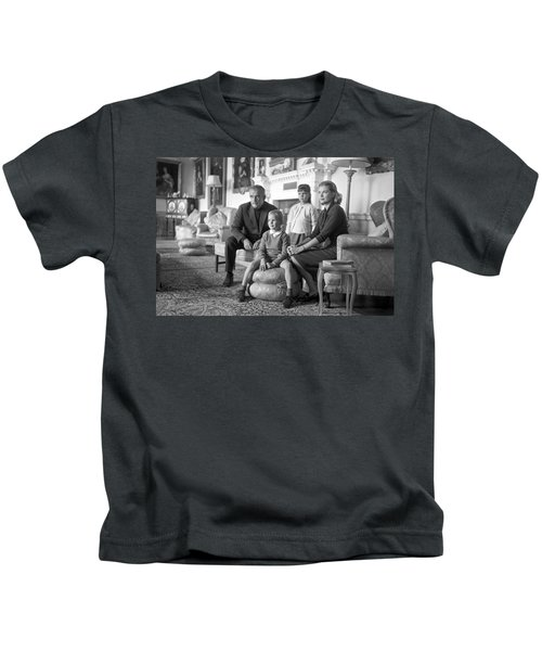 Princess Grace Of Monaco And Family In Ireland Kids T-Shirt by Irish Photo Archive