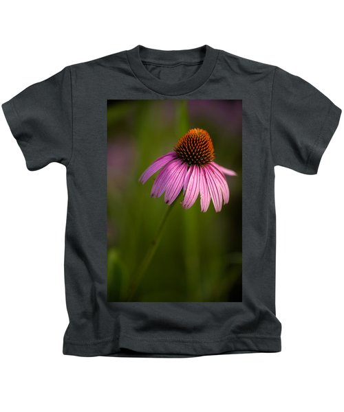 Purple Cone Flower Portrait Kids T-Shirt