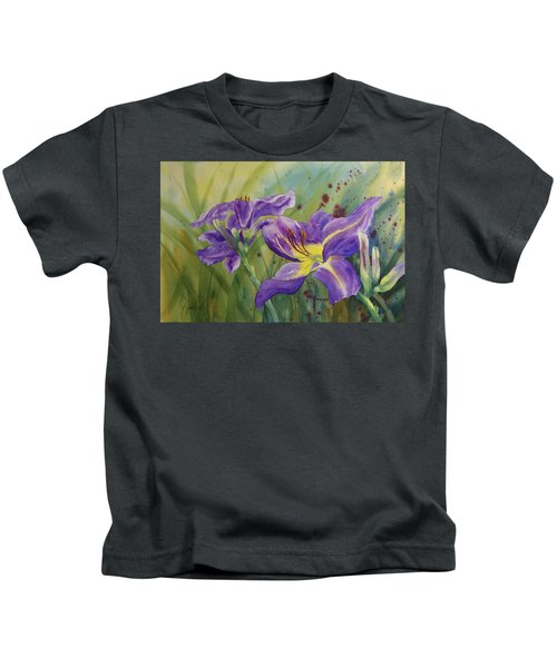Purple Day Lily Kids T-Shirt