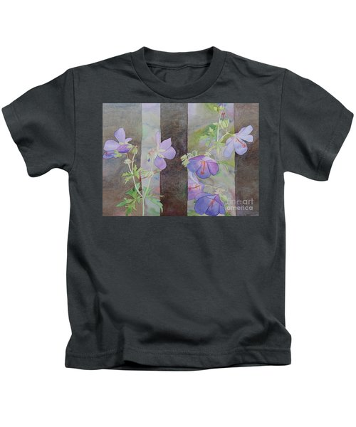 Purple Ivy Geranium Kids T-Shirt