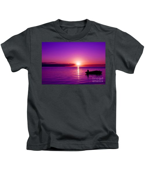 Purple Sunrise Kids T-Shirt