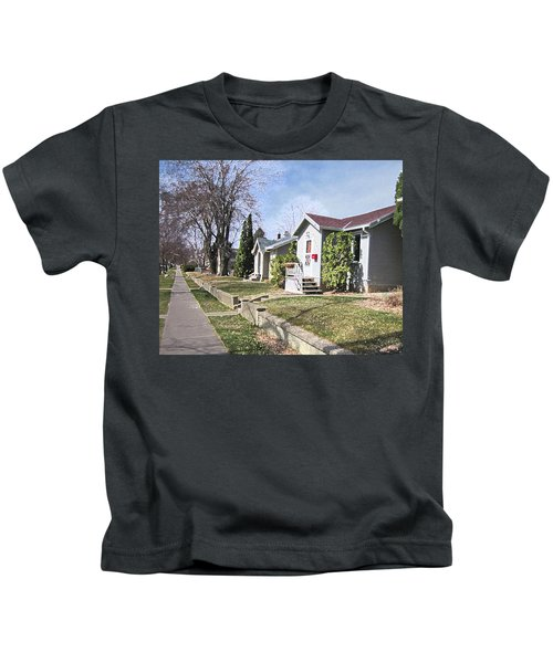 Quiet Street Waiting For Spring Kids T-Shirt