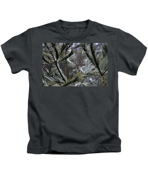 Rain On Pine Needles Kids T-Shirt