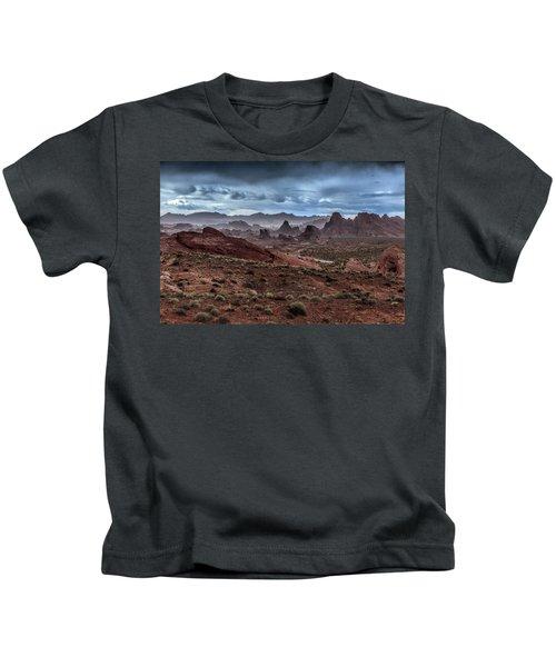 Rainy Day In The Desert Kids T-Shirt