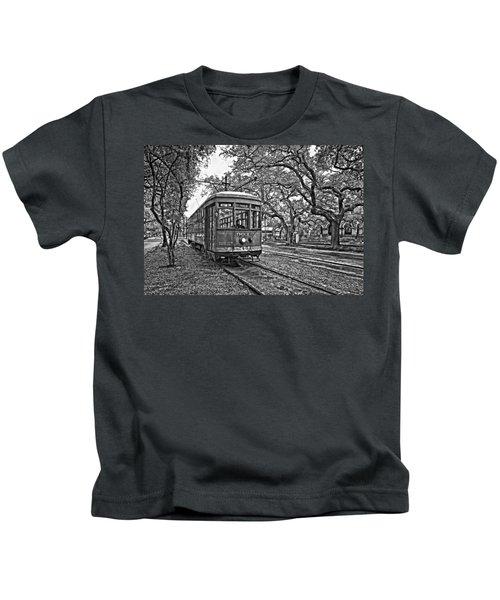 Rainy Day Ridin' Monochrome Kids T-Shirt