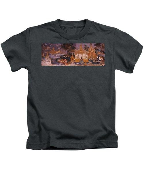 Ramayana Murals In A Palace, Royal Kids T-Shirt