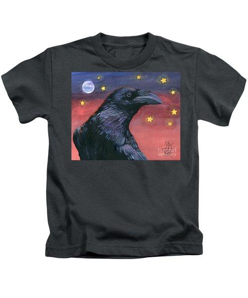 Raven Steals The Moon - Moon What Moon? Kids T-Shirt
