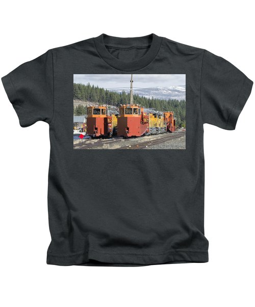 Ready For More Snow At Donner Pass Kids T-Shirt