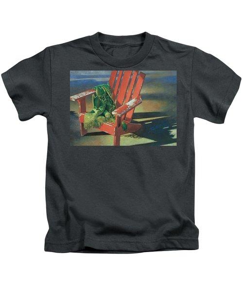 Red Adirondack Chair Kids T-Shirt