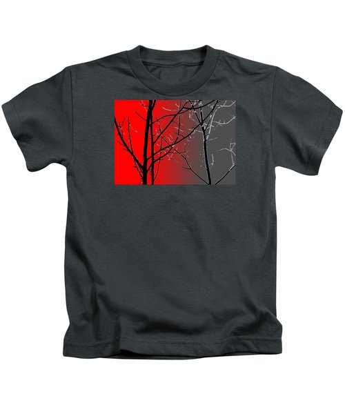 Red And Gray Kids T-Shirt
