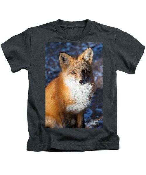 Red Fox Standing Kids T-Shirt