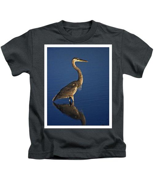 Red Heron Wading Kids T-Shirt