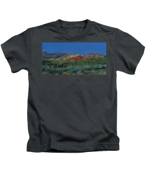 Red Rock Canyon Panorama Kids T-Shirt