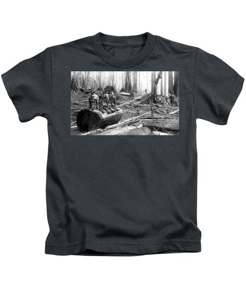 Redwood Logging Crew C. 1890 Kids T-Shirt