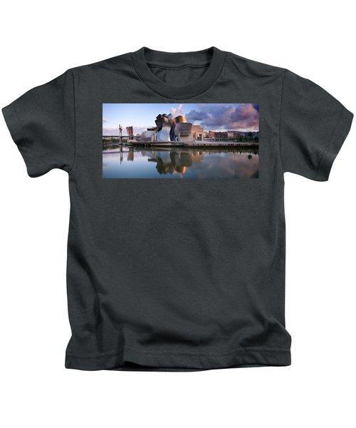 Reflection Of A Museum On Water Kids T-Shirt