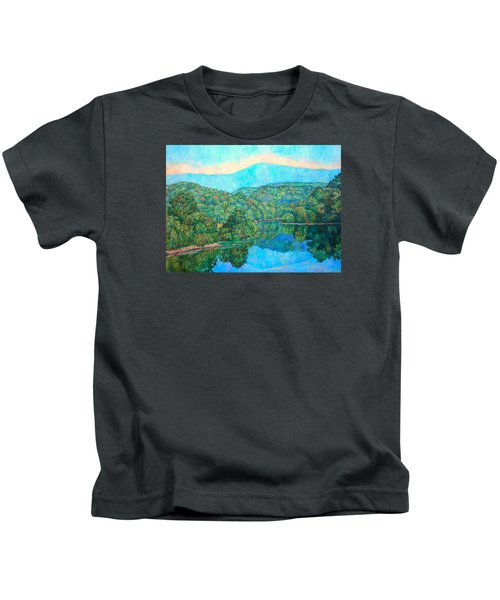 Reflections On The James River Kids T-Shirt