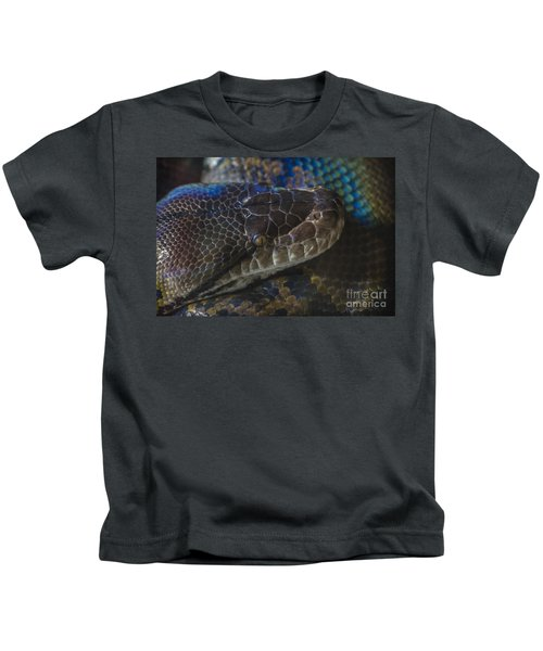Reticulated Python With Rainbow Scales Kids T-Shirt