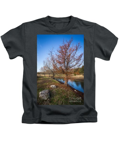 River And Winter Trees Kids T-Shirt