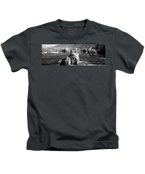 Rock Formations On The Beach, Big Sur Kids T-Shirt