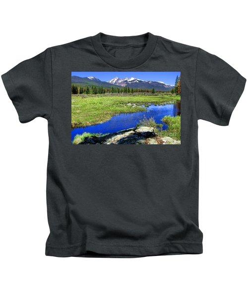 Rocky Mountains River Kids T-Shirt