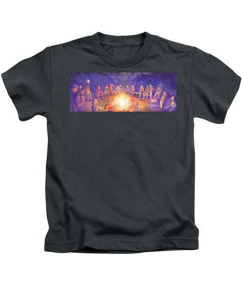 Roots Retreat Campfire Jam Kids T-Shirt