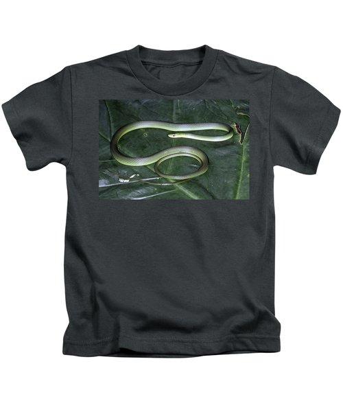 Rough Green Snake Kids T-Shirt