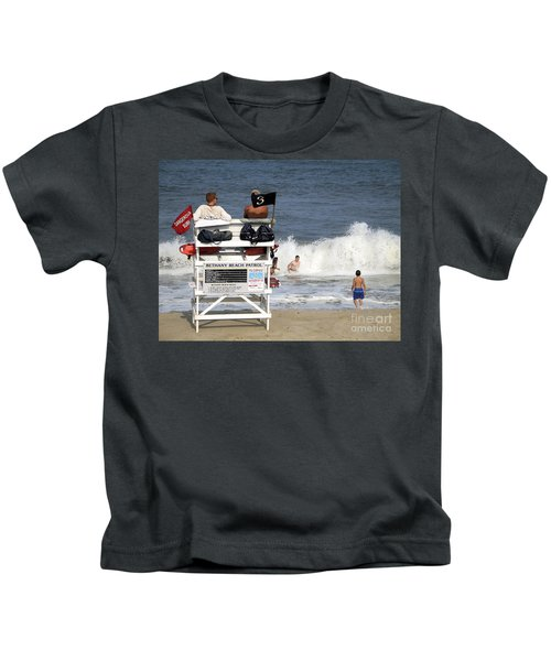 Rough Water At Bethany Beach In Delaware  Kids T-Shirt