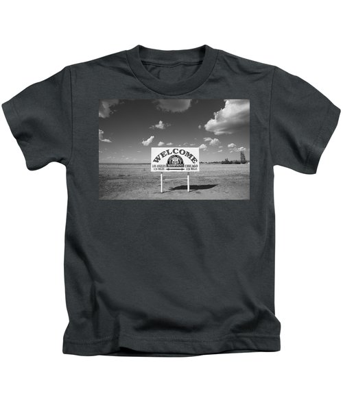 Route 66 - Midpoint Sign Kids T-Shirt
