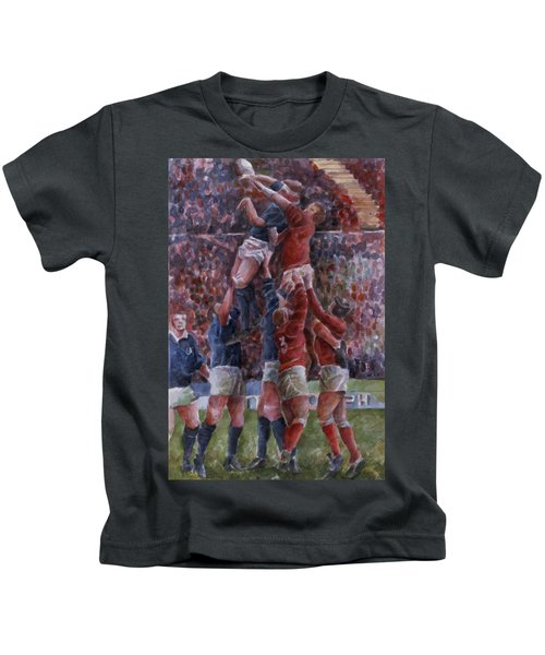 Rugby International, Wales V Scotland Wc On Paper Kids T-Shirt