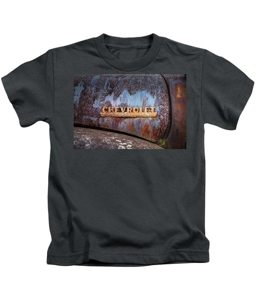 Rusty Chevrolet - Nameplate - Old Chevy Sign Kids T-Shirt